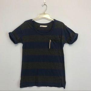 Madewell Tops - Madewell Hi Line | Blue & Grey Short Sleeve